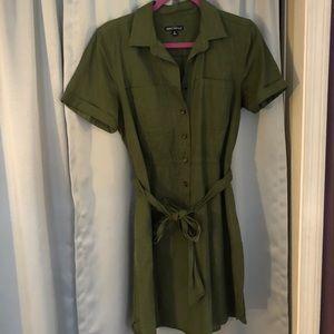 J. Crew Mercantile Olive Green Dress
